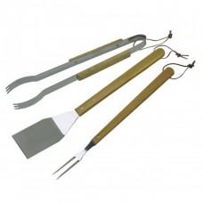 Набор для барбекю из 3 нержавеющих инструментов