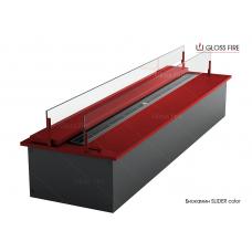 Дизайнерский топливный блок Gloss fire  SLIDER Color