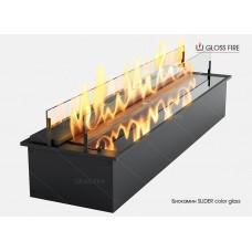 Дизайнерский топливный блок Gloss fire  SLIDER Color glass