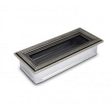 Вентиляционная решетка 4Fire ротан серебро 10,5х25 см