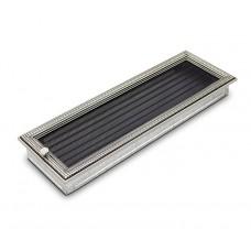Вентиляционная решетка 4Fire (ротан серебряный) 17х50см с жалюзи