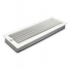 Вентиляционная решетка белая 17х49 см с жалюзи