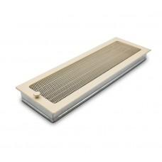 Вентиляционная решетка бежевая 17х49 см с жалюзи