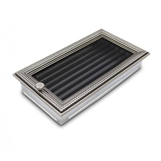 Вентиляционная решетка 4Fire ротан серебряный 17х30 см с жалюзи